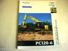 Komatsu Pc120-6 Advance Hydraulic Excavator Color Brochure