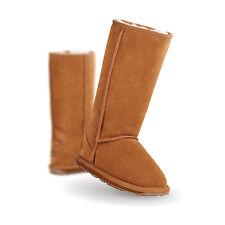 NIB EMU Australia Girl's Wallaby Hi Merino Wool Boot in Chestnut