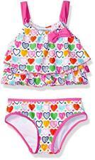 Kiko & Max Girls Ruffle Top Bikini Swimsuit Size 2T 3T 4T 4 5 6 6X