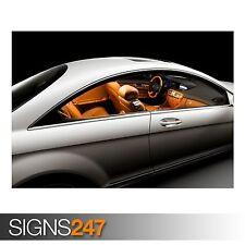 2007 MERCEDES BENZ CL CLASS (AC928) CAR POSTER - Poster Print Art A0 A1 A2 A3