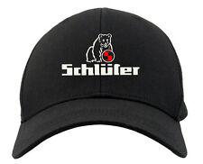 Schlüter Kappe | Oldtimer Logo Mütze mit Bär | Cap | schwarz + rot       318-9-
