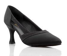 Black, Tan, Silver Or White Satin Latin Ballroom Dance Shoes By Topline SASKIA