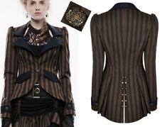 Veste blazer steampunk gothique victorien cintré traîne boutons rayure Punkrave