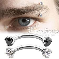 GEM Crystal Eyebrow Lip Ring Hoop Awl Bar Cartilage Septum Helix Tragus Piercing