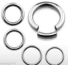 1x 16g-4g Surgical Steel Segmented Seamless Captive Ring Ear-Lip-Tragus-Eyebrow