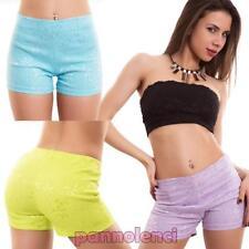 Mujer pantalones cortos shorts encaje bordado elegantes hot jadear elástico