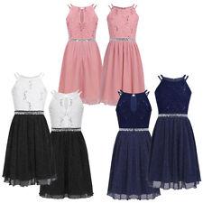 Kinder Mädchen Glitzer Kleid A-Linie Prinzessin Kleider Partykleid mit Spitze