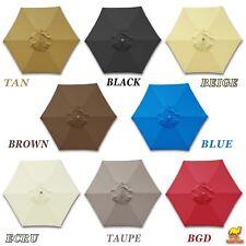 Replacement Umbrella Canopy Cover for 6.5ft 6 Ribs Patio Market Umbrella