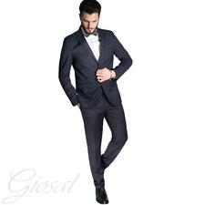 Abito Elegante Uomo Vestito Smoking Papillon Tinta Unita Blu Bottoni Tasche C...