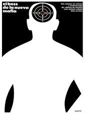 El boss de la nueva mafia vintage B & W POSTER.Graphic Design. Art Decor.3507