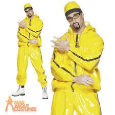 90s Rapper Gangster Suit Ali G Fancy Dress Costume Mens Scouser Tracksuit Outfit