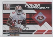2011 Donruss Elite Power Formulas Red #19 Michael Crabtree San Francisco 49ers