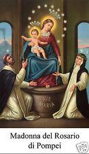 SANTINO HOLY CARD TELA CANVAS MADONNA DEL ROSARIO DI POMPEI