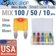 FUSES ATC ATM ATO MINI small size blade car Assortment LED GLOW WHEN BLOWN mix