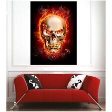 Affiche poster tête de mort en feu46643524