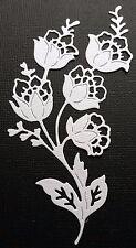 CHOICE OF COLOUR & CARD ...4 x Angelique Flower... Die Cuts..Embellishments