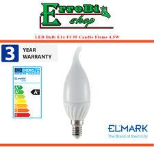 LAMPADINA A LED E14 FC35 CANDELA FIAMMA 4.5W 2700K LUCE 350LM LAMPADA ELMARK