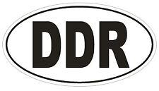 DDR Germany Country Code Oval Bumper Sticker or Helmet Sticker D939