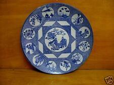 19TH C JAPANESE BLUE AND WHITE IMARI PLATTER