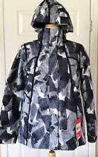 $199 NWT Womens The North Face Roxborough Waterproof Jacket Black Print S M
