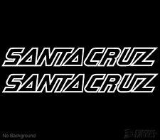 Santa Cruz Cycling Bike Vinyl Stickers 227mm Set Of 2 Frame Replacement Decals
