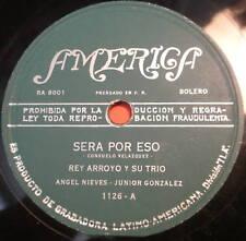 REY ARROYO Y SU TRIO Sera Por Eso  / Obligacion Firmada LATIN 78 America Label