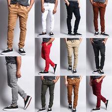 Victorious Men's Elastic Waist Trousers Twill Skinny Joggers Pants - JG876-JJ1F