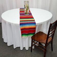 "Mexican Serape Table Runner 15"" x 84"" Saltillo Sarape Wedding Party Made in USA"
