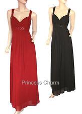 Red Black Formal Evening Dress Long Size S M L XL 2XL 3XL 4XL New