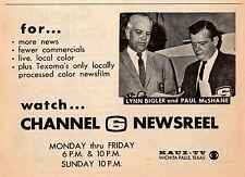 1968 KAUZ tv ad ~ Newsreel w Lynn Bigler & Paul McShane in Wichita Falls,Texas