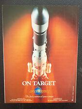 6/1985 PUB ARIANESPACE ARIANE SATELLITE SPACE ESPACE FUSEE ROCKET RAKETE AD