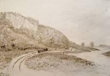 SCOTLAND STEAM TRAIN  NEAR ABBEY CRAIG INK  WILSON 1877