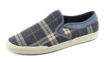 G. H. Bass & Co. Men's Gray Beige Black Plaid Hopewell Slip On Sneaker Shoes Re