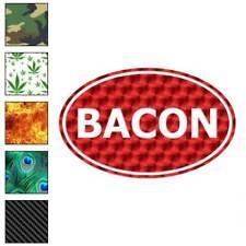 Bacon Oval Decal Sticker Choose Pattern + Size #3920
