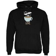 Love Coffee Black Adult Hoodie