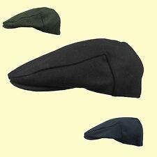 Quality Plain Black Navy Grey Flat cap Wool Blend S - XXL Big Size Cap 7 3/4