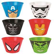 Boys Girls Superheroes Licensed Plastic Bowls Kids Cartoon Characters Toys