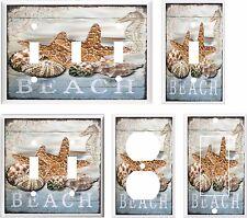 SEA SHELL STARFISH BEACH LIGHT SWITCH COVER PLATE