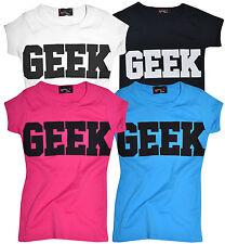 Kids Camiseta Geek impresión Chicas Chicos Tee Top Algodón T CHILDS ADOLESCENTE Nuevo 7 -13 Años