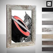 Bilderrahmen London Holz MDF Foto Poster Rahmen Farbe Größe Wählbar Schmal