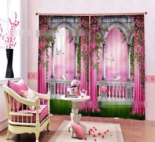 3D Pretty Aisle Blockout Photo Curtain Printing Curtains Drapes Fabric Window AU