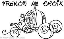 Sticker Carrosse de princesse + Prénom au choix personnalisable (CAR002)