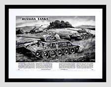 Disegno DI GUERRA CARRI ARMATI RUSSI t34 Joseph Stalin Militare Framed Art Print b12x6661