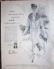 1962 LANE BRYANT Womens Fashion Leopard Spots Can Change Ad