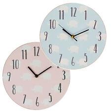 PETIT CHERI design éléphant MDF Chambre à coucher 17cm Horloge - NOUVEAU bébé