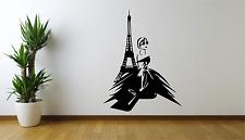 PARIS DONNA BELLEZZA Francia Torre Eiffel Cool Adesivo Decalcomania parete di casa AT6
