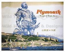 Vintage railway posters: plymouth l'esprit de drake vit sur: A2 & A3 (215)