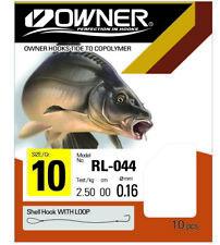 Owner Haken Karpfen schwarz RL044 , verschiedene Vorfächer zur Auswahl 70cm