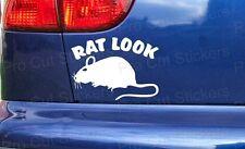 RAT LOOK DIVERTENTE PERSONALIZZATO AUTO FURGONE PARAURTI finestra