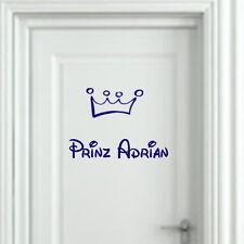 Wandtattoo Kinderzimmer Prinz + Wunschname + Krone personalisiert